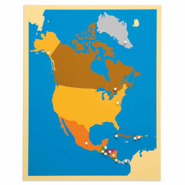 Puzzle Mapa América del Norte