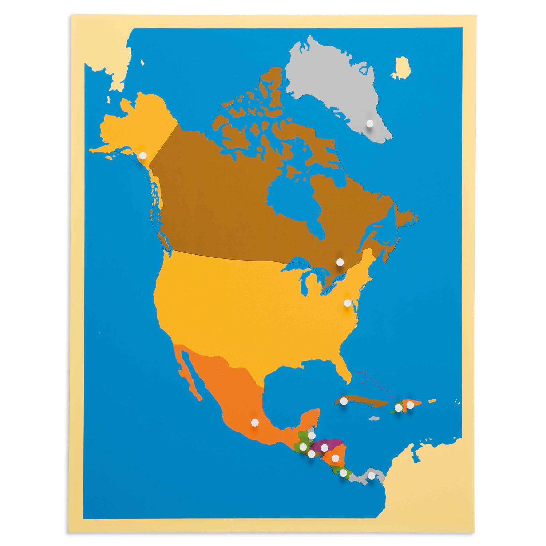 Puzzle Mapa De América Del Norte