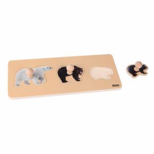 Rompecabezas Montessori: 3 Osos
