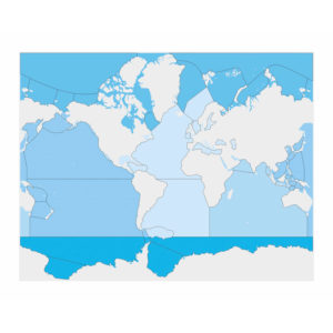 Mapa de control de mares y océanos: sin etiqueta