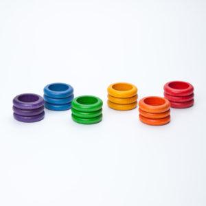 18 Anillas de Colores