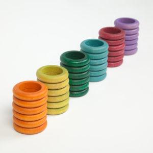 36 Anillas de 6 Colores No Básicos