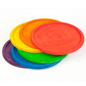 6 Platos de Colores