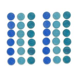 Mandala Monedas Azules