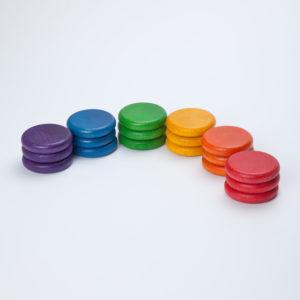 18 Monedas Colores Básicos