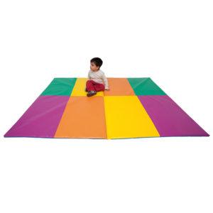 Tatami Plegable Multicolor 2 Cuerpos