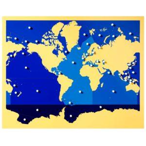 Puzzle Mapa Mares y Oceanos