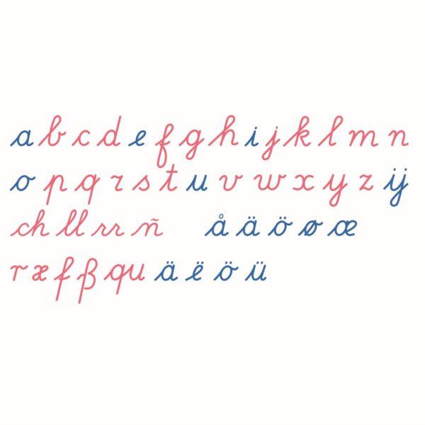 Alfabeto móvil grande: cursiva internacional