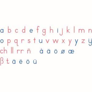 Alfabeto Móvil de Madera Grande: Letra Internacional Imprenta