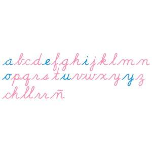 Alfabeto Móvil de Madera: Letra USA Cursiva