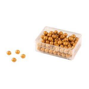 100 Perlas Doradas Individuales: Nylon
