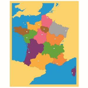 Puzzle Mapa: Francia