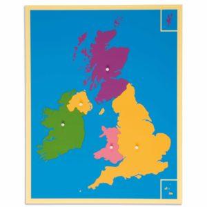 Puzzle Mapa: Reino Unido