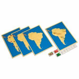 4 Mapas de América del Sur